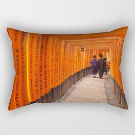 Kyoto, Pray, Love Rectangular Pillow
