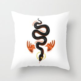 Good Omens- Saunter Vaguely Downwards Throw Pillow