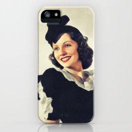 Frances Mercer, Vintage Actress iPhone Case