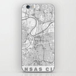 Kansas City Map Line iPhone Skin