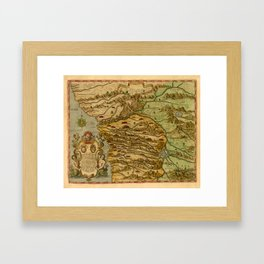 Map Of The Congo 1597 Framed Art Print