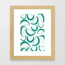 Lime Pattern Framed Art Print