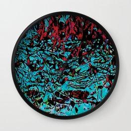 Flora Celeste Tourquoise Leaves Wall Clock