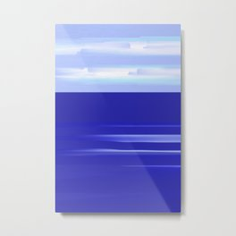 Sea and Sky Mediterranean View Metal Print