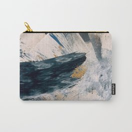 Harbor: a minimal, blue and gold abstract piece Carry-All Pouch