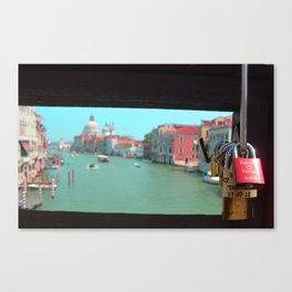 Rialto Bridge Locks Canvas Print