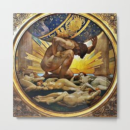 Classical Masterpiece: Atlas and the Hesperides by John Singer Sargent, circa 1925 Metal Print
