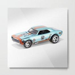 Hot Wheels Gulf Racing 427 SS Pony Car 67 Redline Metal Print