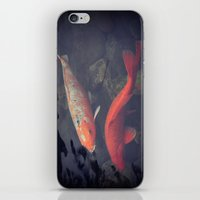 koi fish iPhone & iPod Skins featuring Koi Fish by KunstFabrik_StaticMovement Manu Jobst