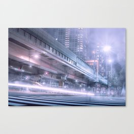 Seconds of memories dipped in darkness Canvas Print