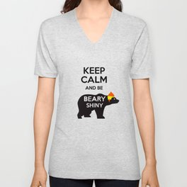 Firefly- Keep calm and be Beary Shiny Unisex V-Neck