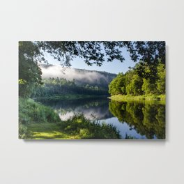 The River's Reflection Metal Print