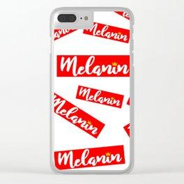 MELANIN BOX Clear iPhone Case