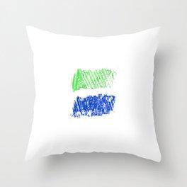 Flag of sierra leone 4 -salone,Sierra Leonean,Leone,Sierra Leona,freetown. Throw Pillow