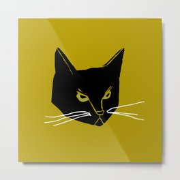 Mr. Black Cat Metal Print