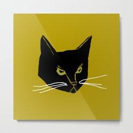 Mr. Black Cat Metal Print