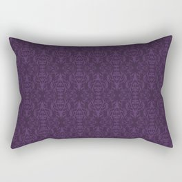 Purple Stag Damask Rectangular Pillow
