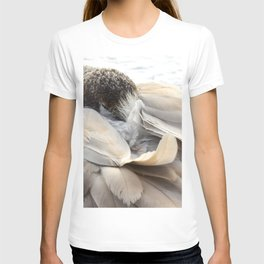 Young Trumpeter Swan by Teresa Thompson T-shirt