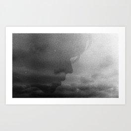 Grainy Silhouette  Art Print