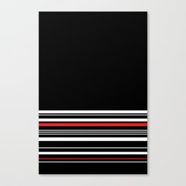 The Classy Babe - Black Canvas Print