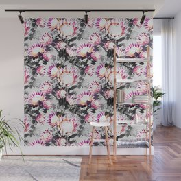 Floral pattern protea Wall Mural