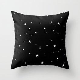 Tiny Stars Dark Throw Pillow