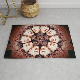 Witchy Woman // Stevie Nicks Vintage Witch Goddess Magical Star Pentacle Pentagram Mandala Rug