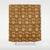 poop Shower Curtains featuring Poop Emoji by Fabian Bross