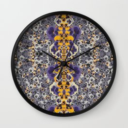Real Pansies Wall Clock