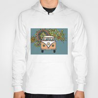vw Hoodies featuring VW bus by Woosah