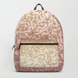 Champagne Gold Blush Pink Glittery Ombre Pattern #society6 Backpack