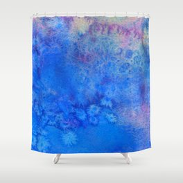 Forget-Me-Not Watercolor Texture Shower Curtain