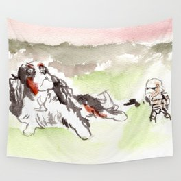 When Sand Trooper meet the Dog Wall Tapestry