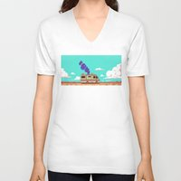 lab V-neck T-shirts featuring Lab by Mikhail Kalinin