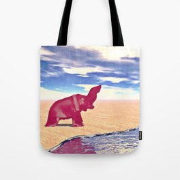 Desert Elephant Quest For Water Tote Bag
