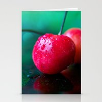 cherry Stationery Cards featuring Cherry by Lindsay Faye
