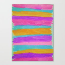 Beach Cabana Stripes Canvas Print