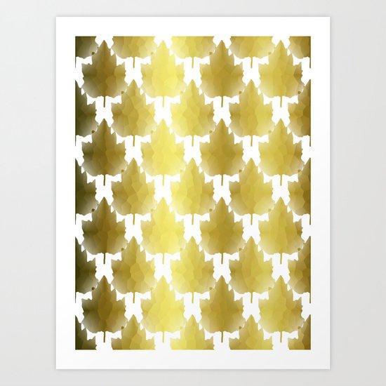 Golden Maple Leaves Art Print
