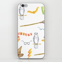 harry potter iPhone & iPod Skins featuring Harry Potter by Yellow Sun Lisa