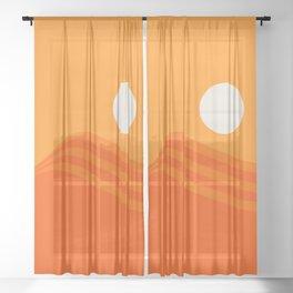 Swell - Orange Crush Sheer Curtain