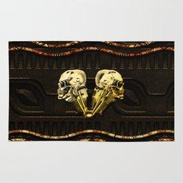 Awesome nechanical skulls Rug