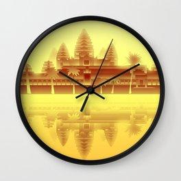 Angkor Wat Heat Wall Clock