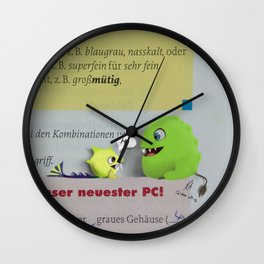Monsters at school Wall Clock