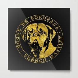 Golden Dogue de Bordeaux - French Mastiff Metal Print