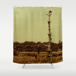 Lonely Crow Shower Curtain