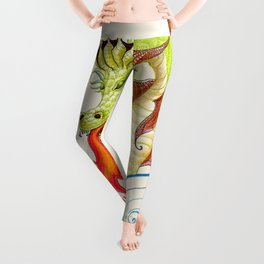 A happy dragon Leggings