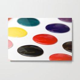 Ceramic colour samples Metal Print
