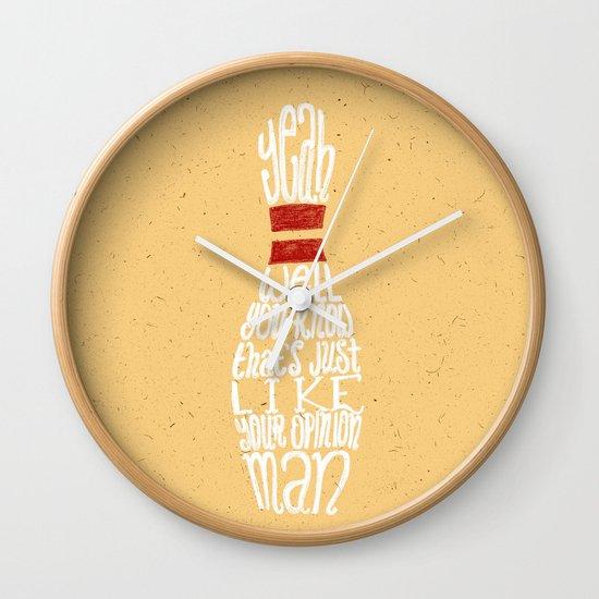 The Big Lebowski Wall Clock