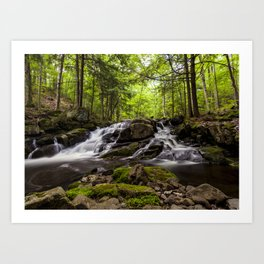 split waterfall Art Print