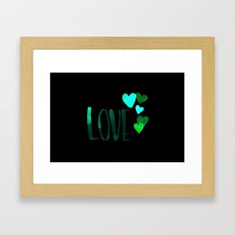 Love 5 Hearts - Pink Framed Art Print